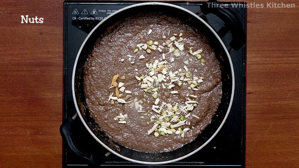 chocolate kesari ready to serve