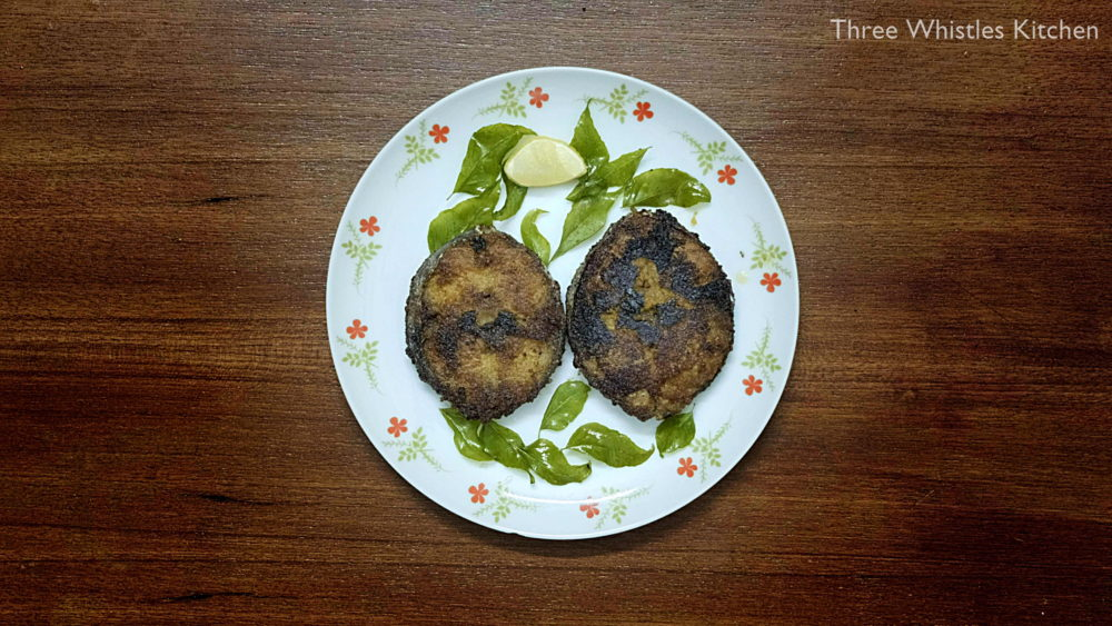 vanjaram fish fry served