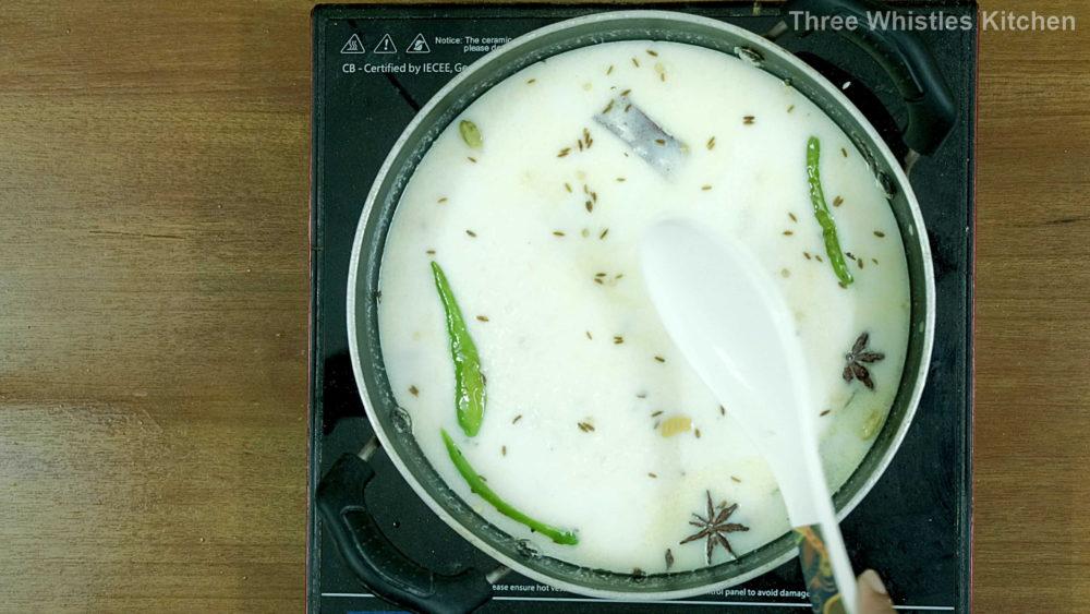 jeera rice water milk