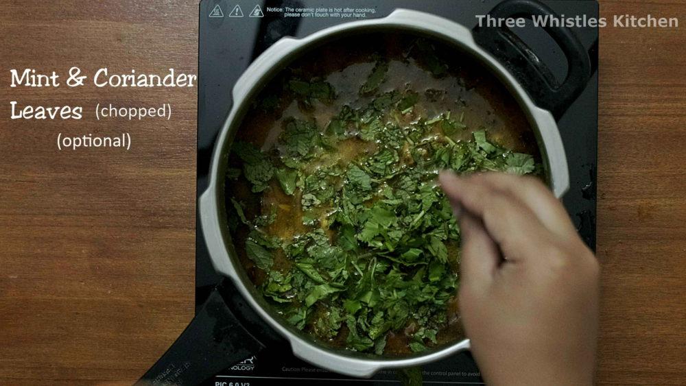 mutton biryani mint coriander