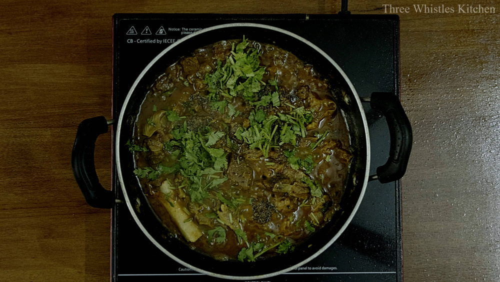 mutton ghee roast garnish