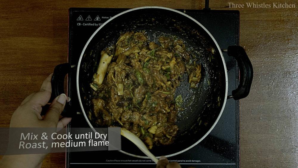 mutton ghee roast done