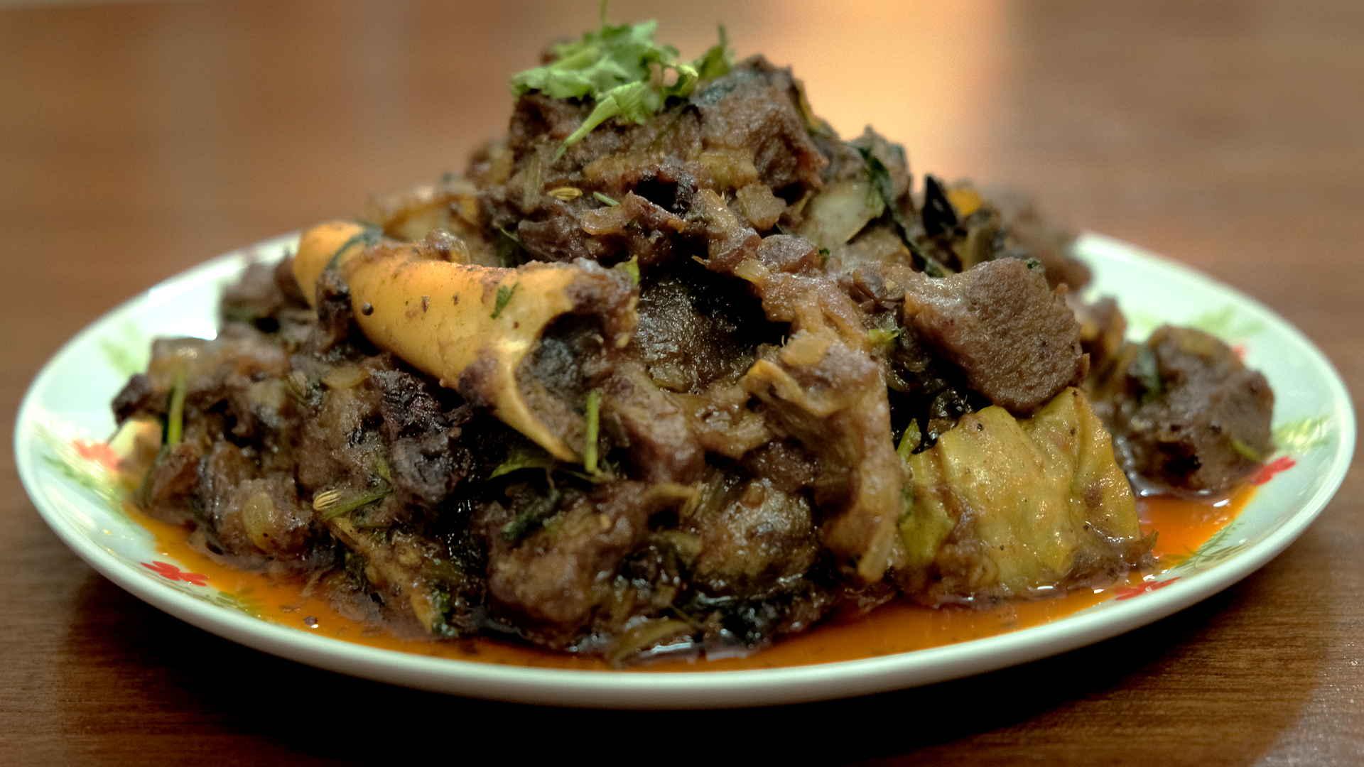 mutton ghee roast featured