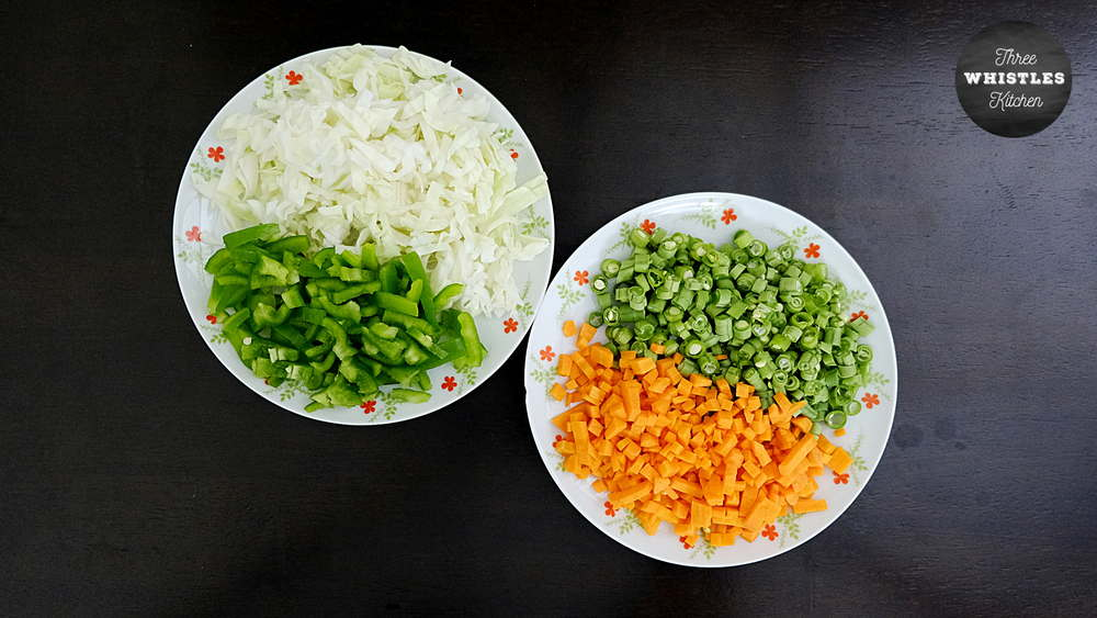 indian egg fried rice how to cut vegetables perfectly