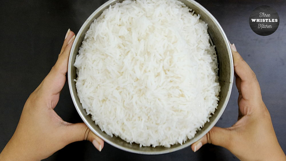 indian egg fried rice drain water