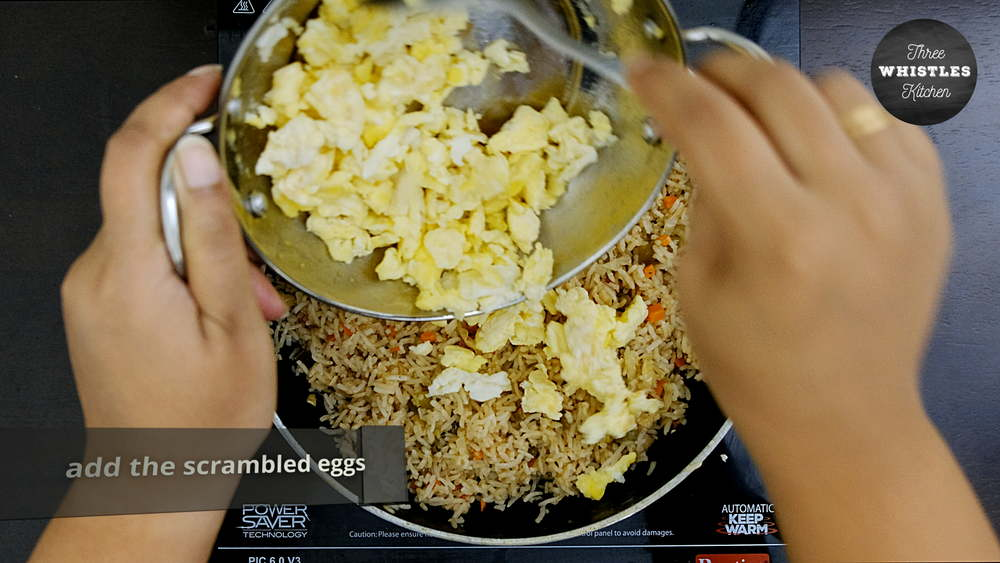 indian egg fried rice egg scramle