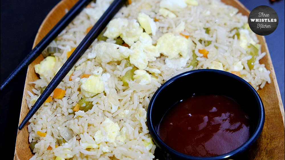 indian egg fried rice featured