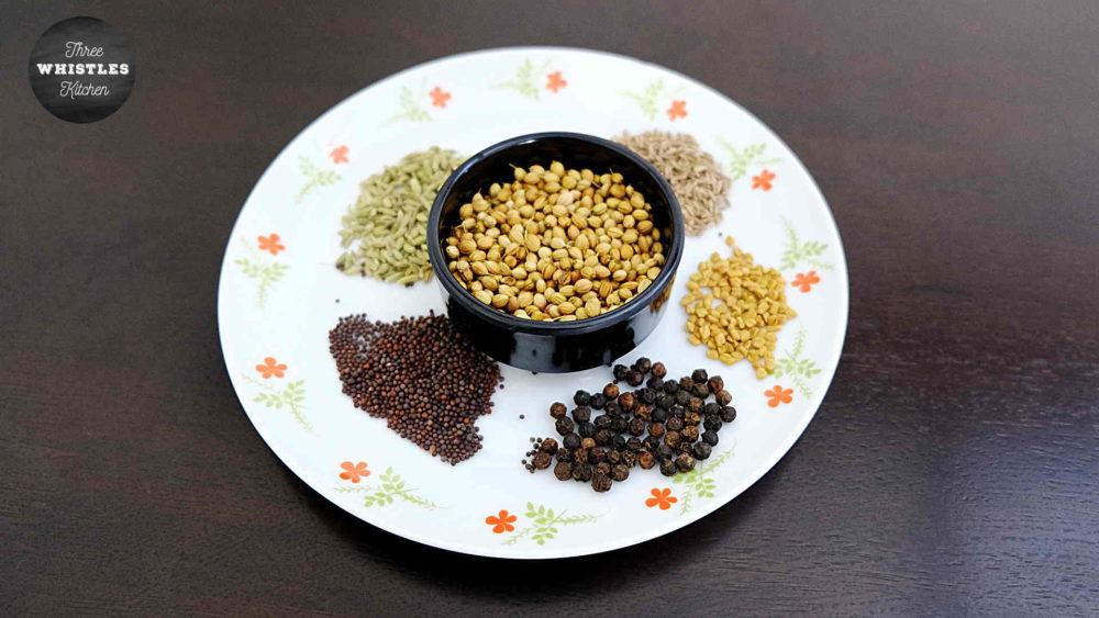 kulambu podi ingredients