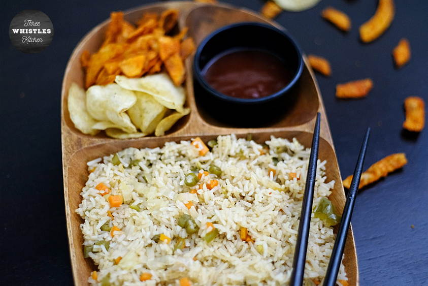 veg fried rice restaurant style featured
