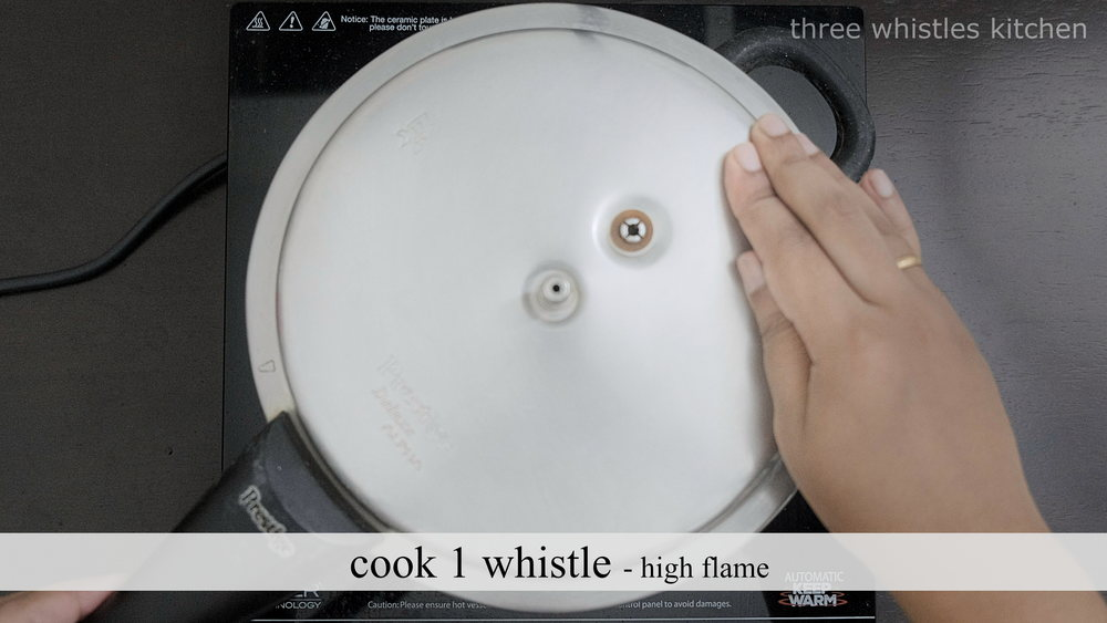 pressure cook 1 whistle