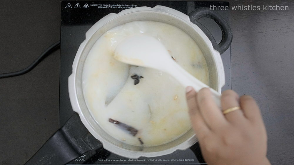 stir once