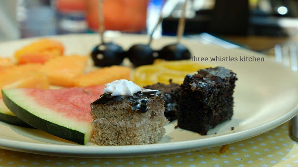 chocolate cake and brownie