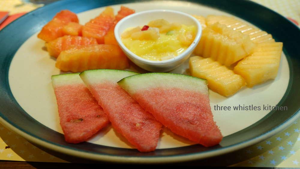 fruit bowl and custard