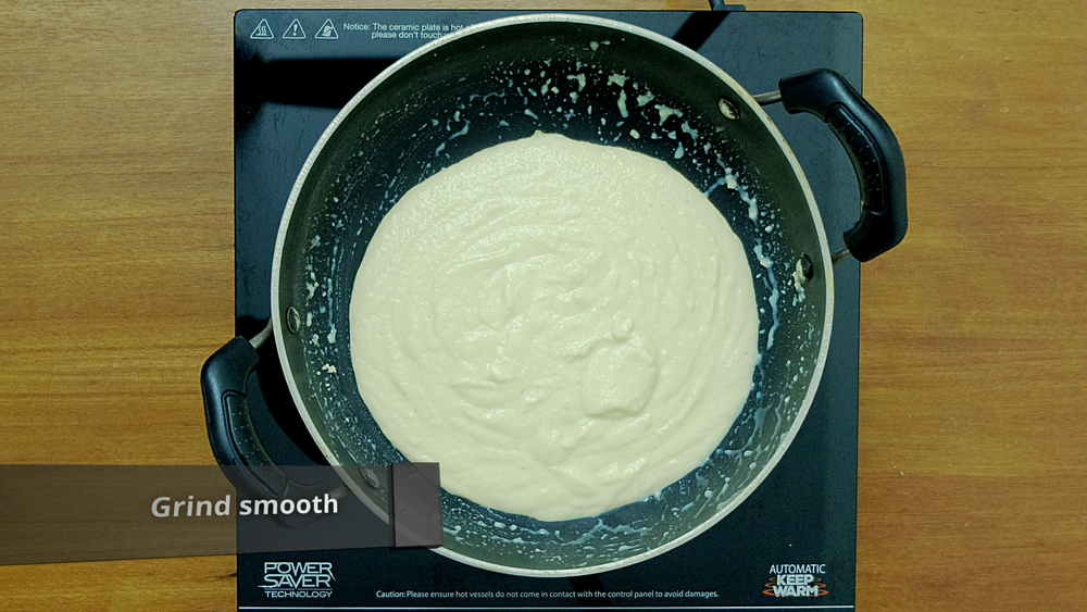 grind to smooth paste