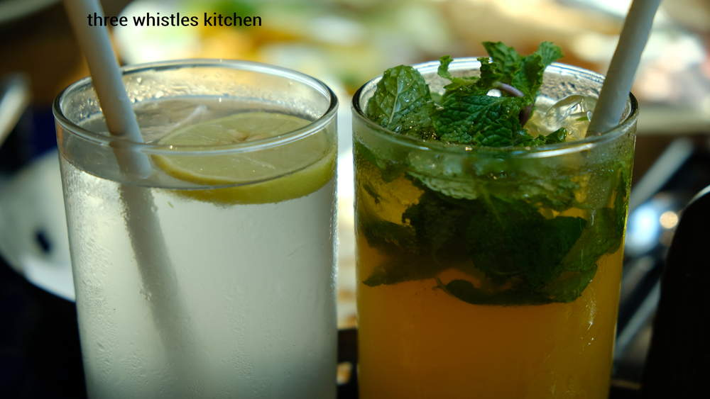 sweet lime soda and ginger mint drink