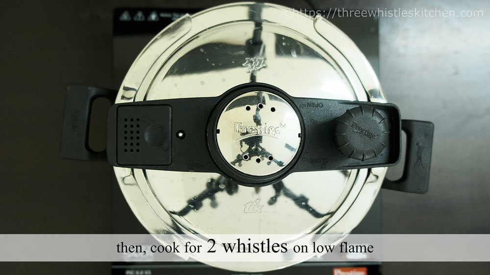 2 whistles on high