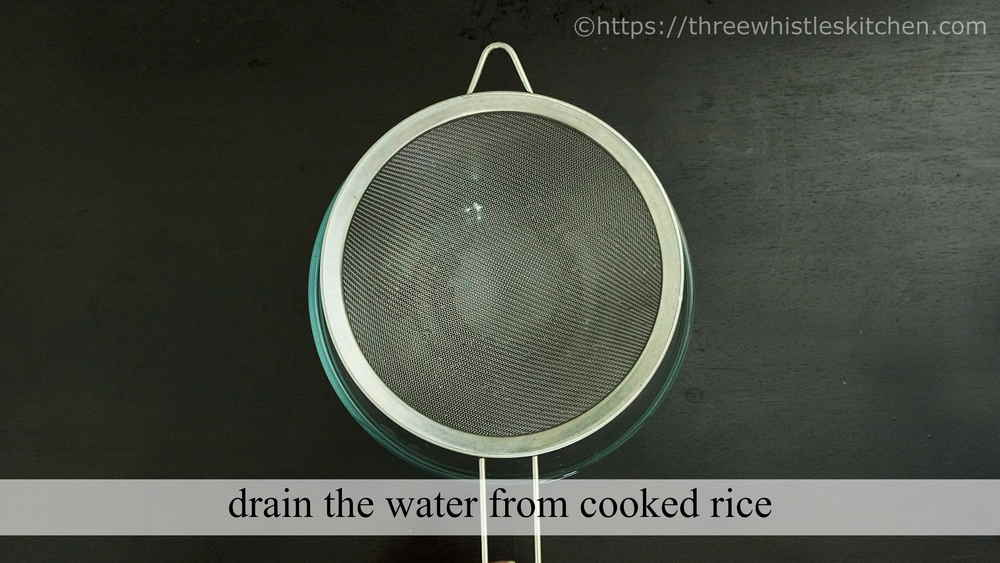 drain the water