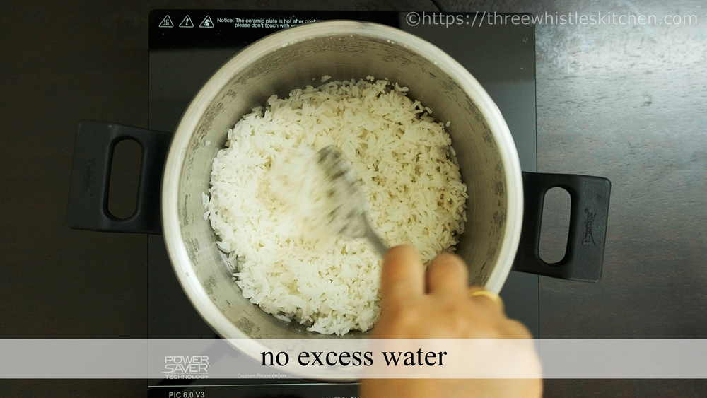 no excess water