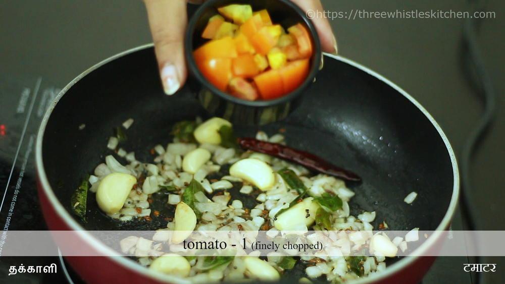 poondu kulambu tomato
