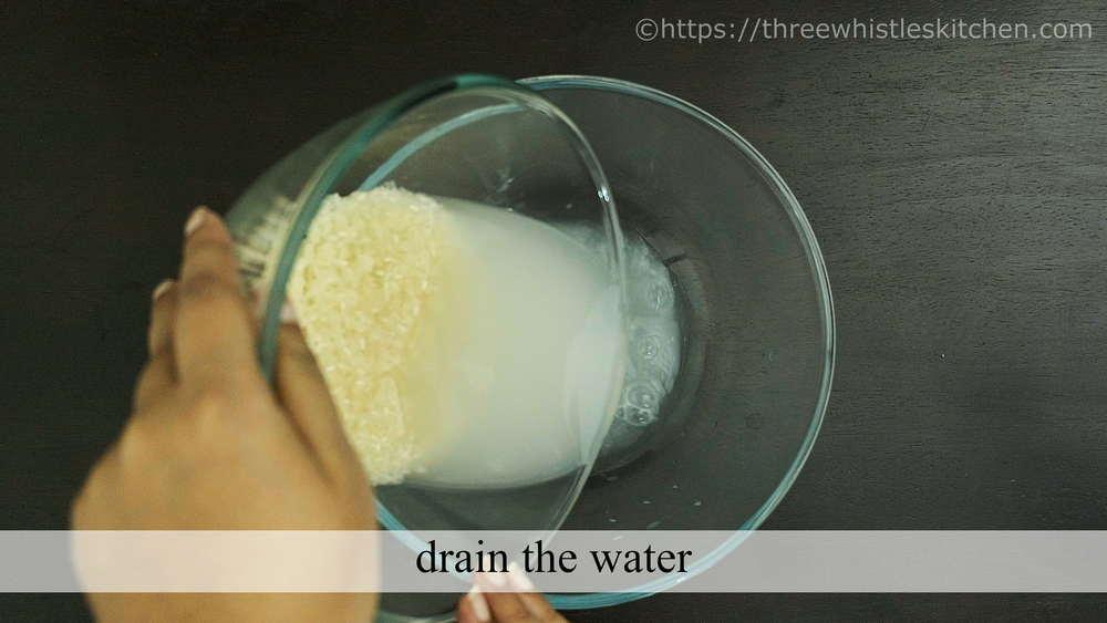rice drain water