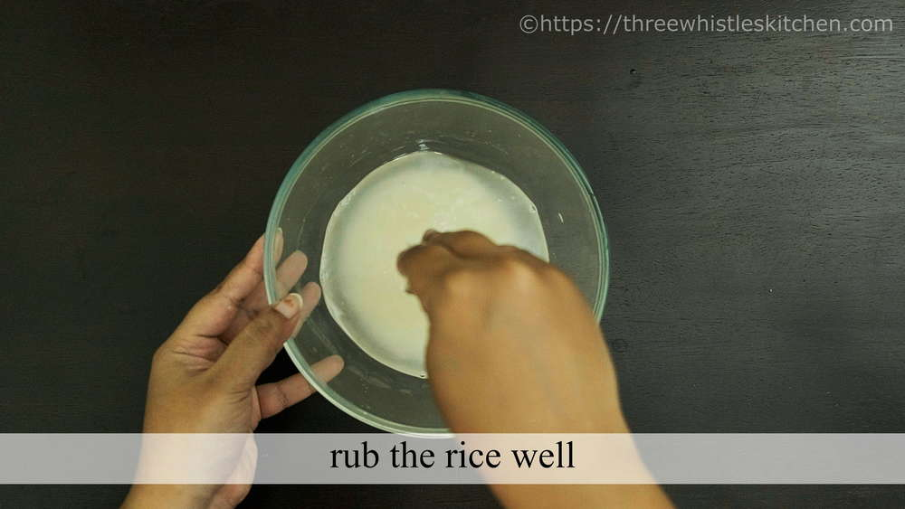 rub rice well