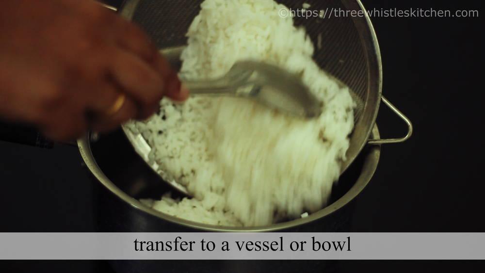 transfer to bowl