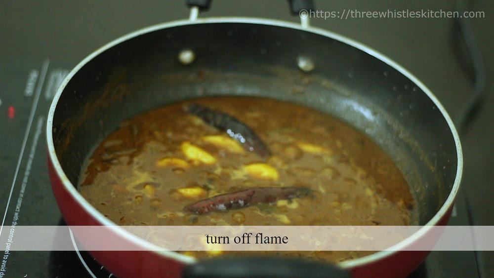 turn off flame