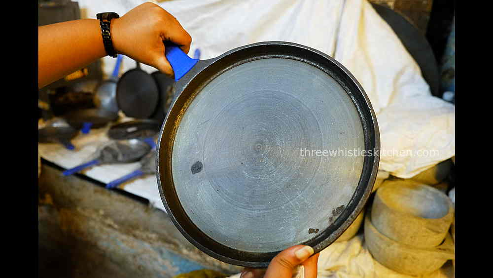 handmade cast iron dosa tawa