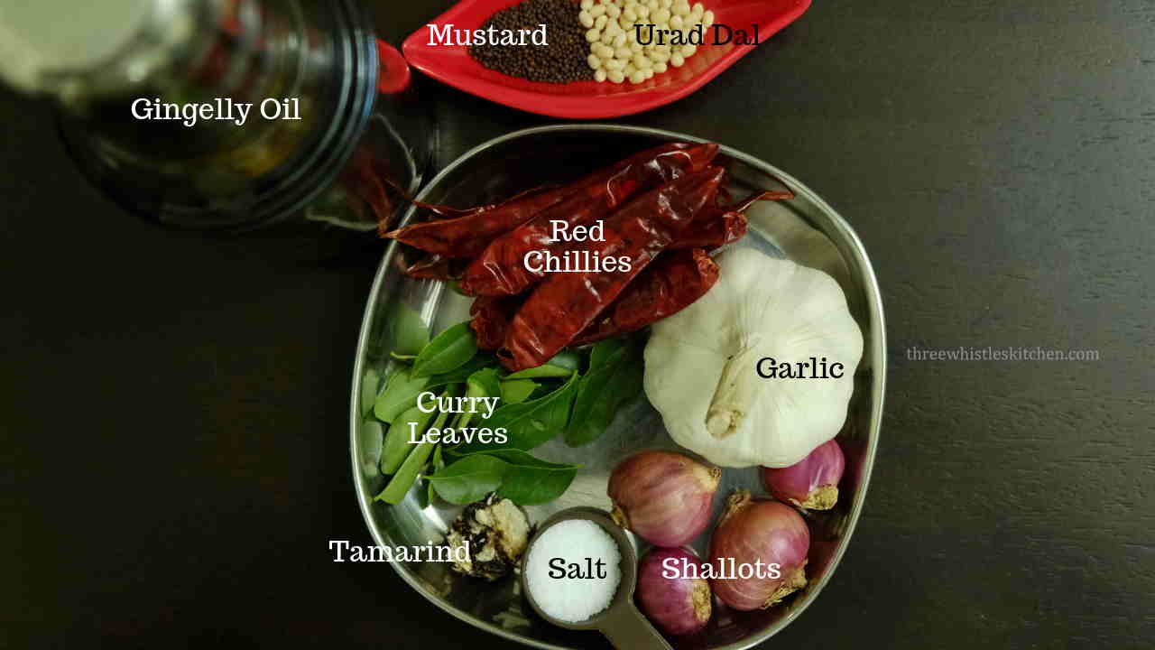 Garlic Chutney ingredients