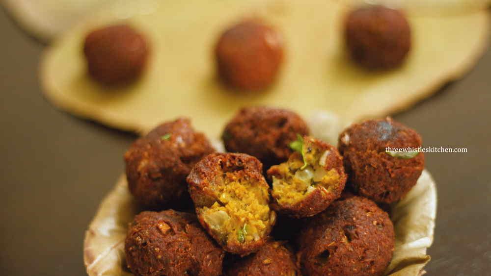 crispy fried keema balls