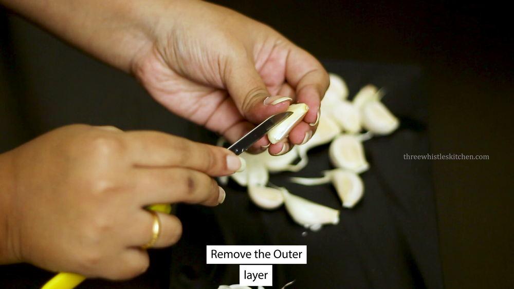 garlic chutney peel the garlic