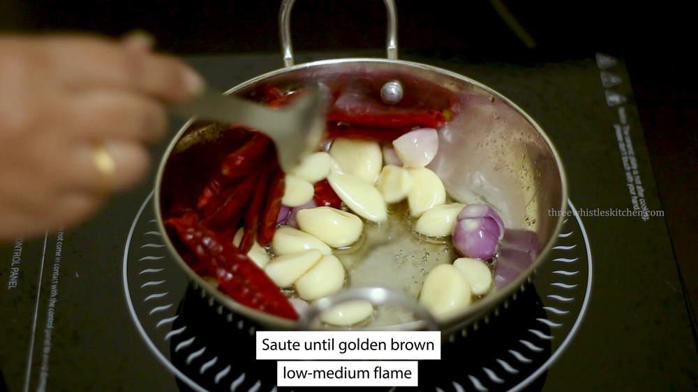 garlic chutney saute red chilli