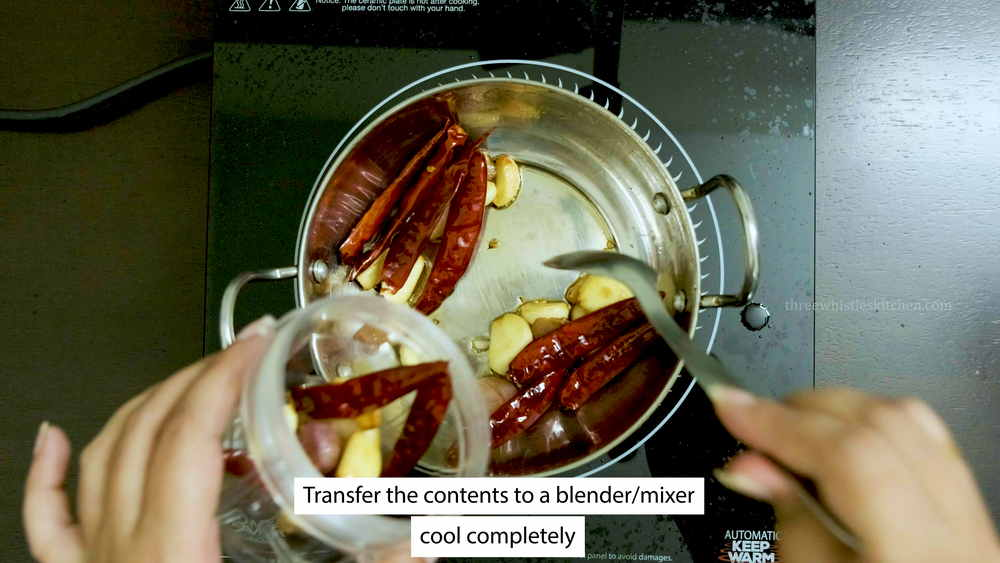 transfer the contents to a blender