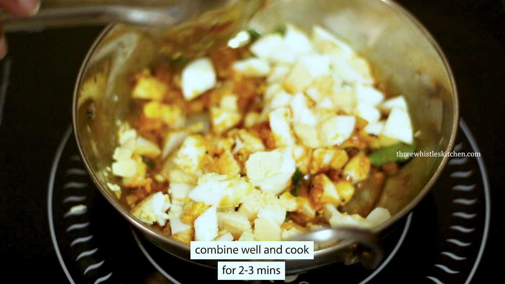 add chopped boiled eggs