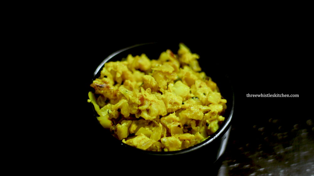egg cabbage poriyal
