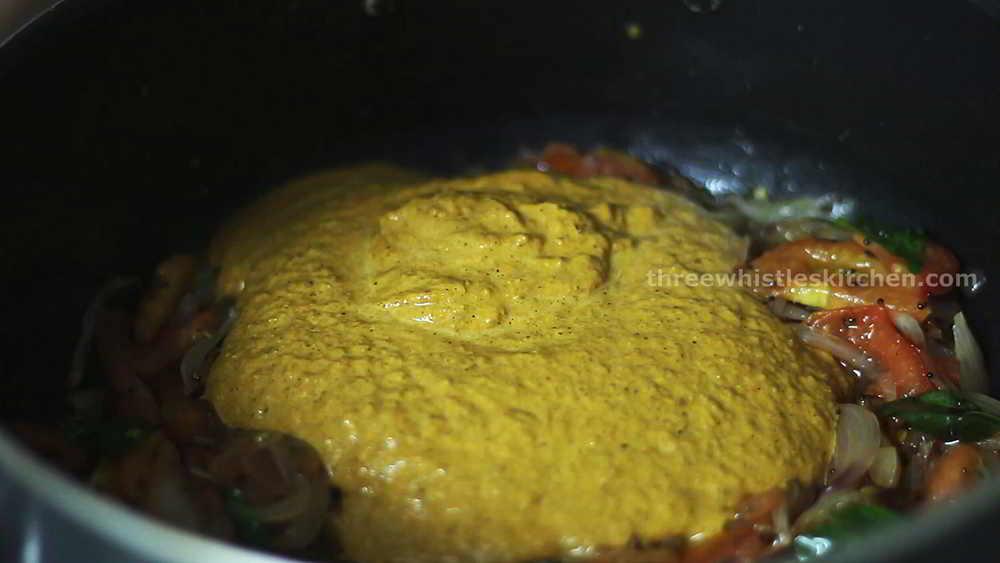 add masala paste plain salna