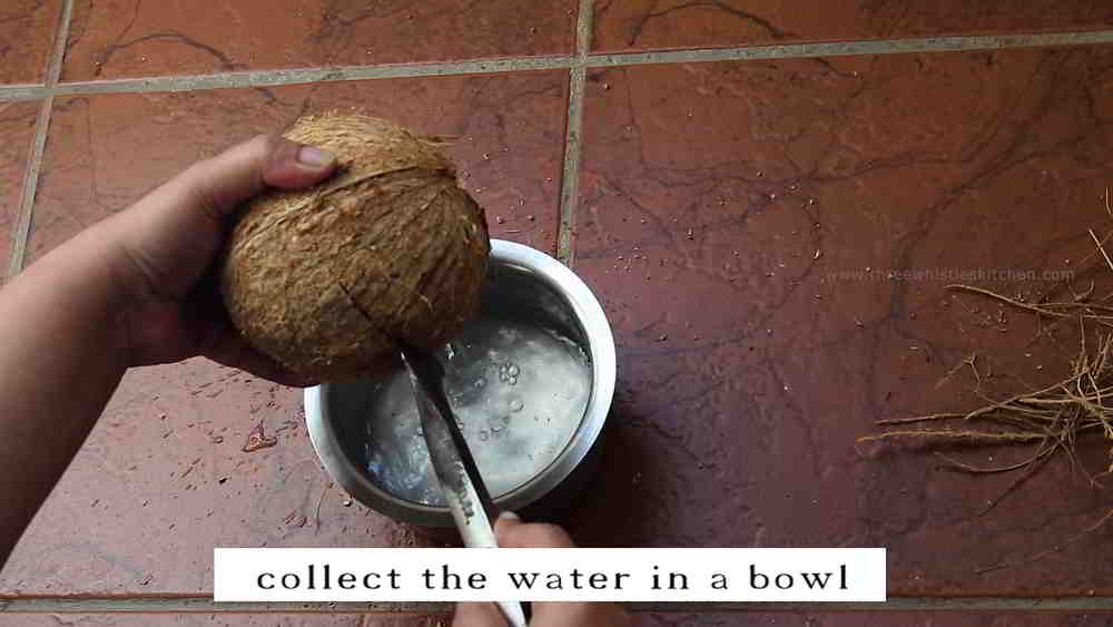 coconut break and water
