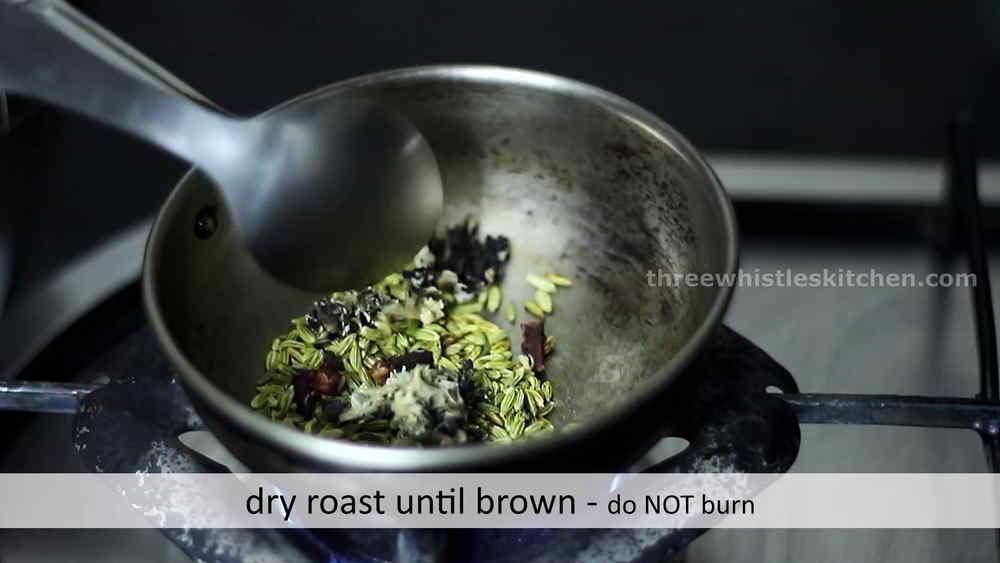 dry roast ingredients tomato salna
