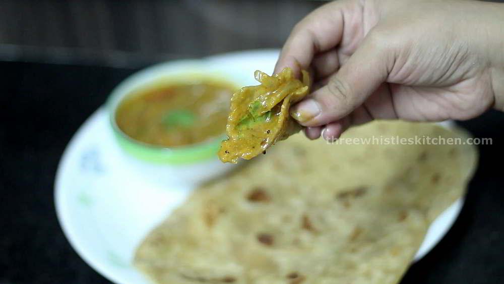roadside salna with chapati